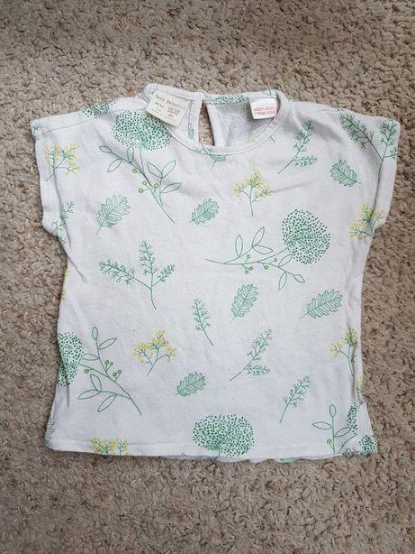 Bluzka tshirt zara krótki rękaw r 86