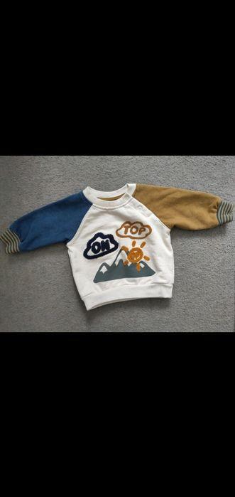 Bluza z łączonych materiałów jesienne kolory reserved r.62 Nowy Tomyśl - image 1