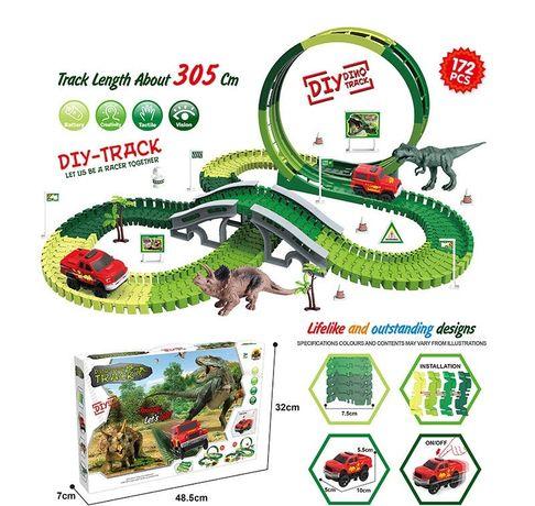 Ігровий трек - Світ динозаврів, довжина 305 см, машинка на батарейках