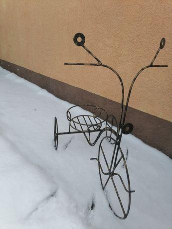 Kwietnik metalowy rower