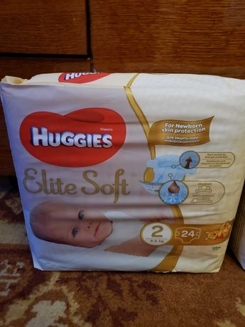Хаггіс, Хаггис, Huggies elite soft, 24 шт.