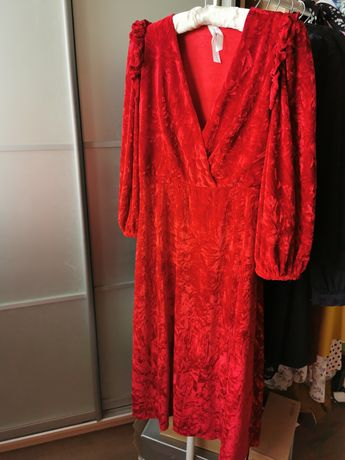 Платье женское вечернее из бархата
