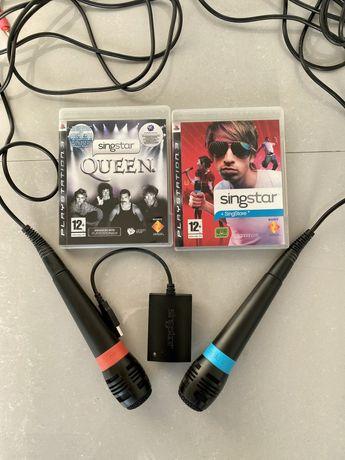 Singstar Ps3 (microfones + 2 jogos)