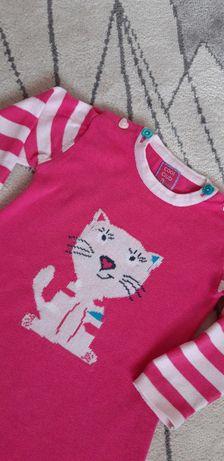 Sukienka tunika dzianinowa dla dziewczynki roz. 86 Cool Club Baby