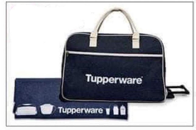 Mala de viagem tupperware
