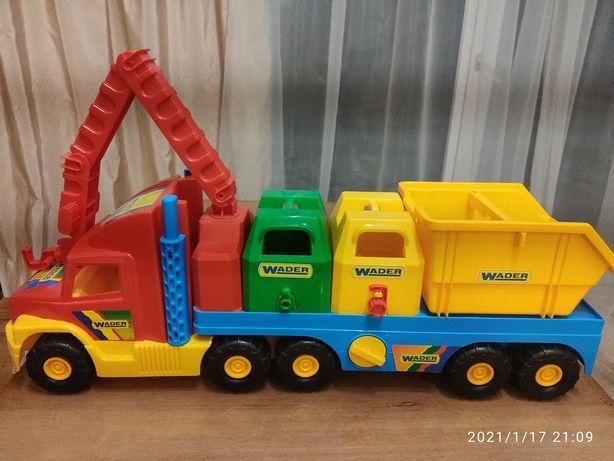 Ciężarówka z naczepą, firmy Wader