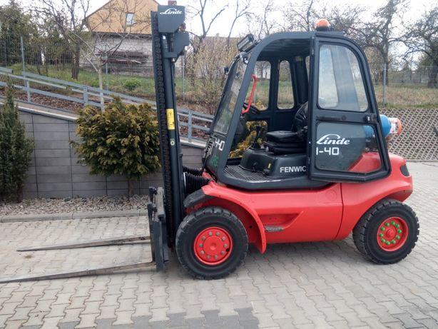 Wózek widłowy linde h-40 pełna kabina LPG UDT wynajem