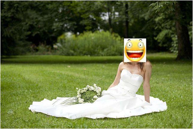 Sukienka ślubna Classa piękna, elegancka, klasyczna r.36 do 182cm