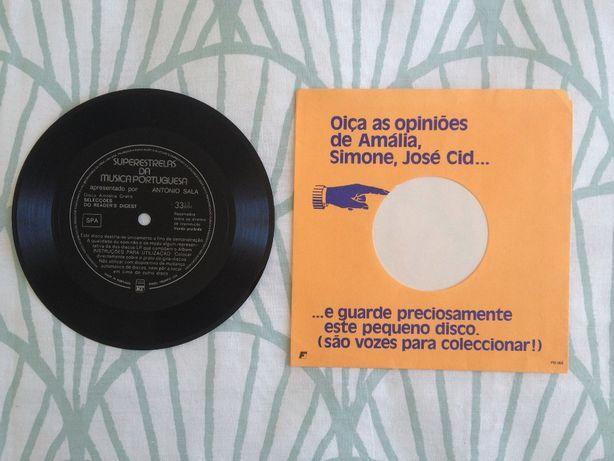 "Disco vinil 33rpm: ""Superestrelas da Música Portuguesa"" (vintage)"