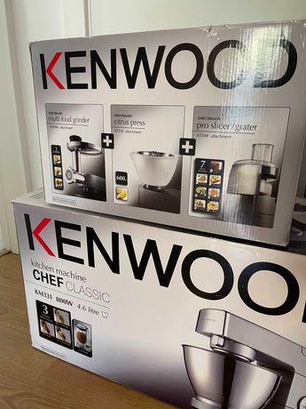 Robot de Cozinha COMPLETO + NOVO Kenwood Chef Classic (+ Acessórios)