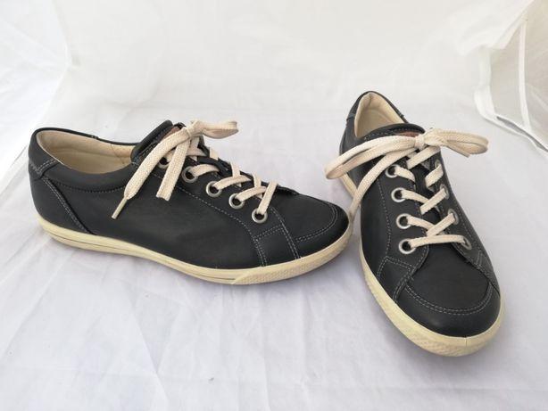 Buty skórzane Ecco r. 37 , wkładka 24 cm