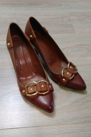 Туфли натуральная кожа средний удобный каблук