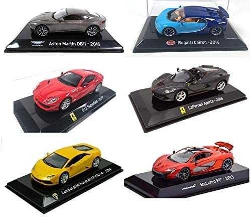OPO 10 - Zestaw 6 samochodów kolekcjonerskich 1:43 Ferrari x2+Lambo...