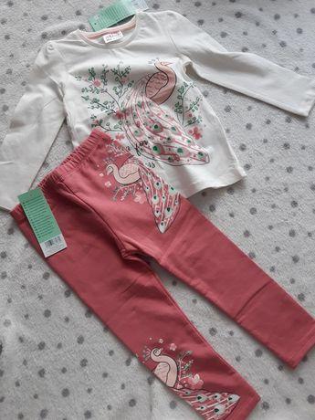 Bluzeczka i legginsy rozm 92 nowe