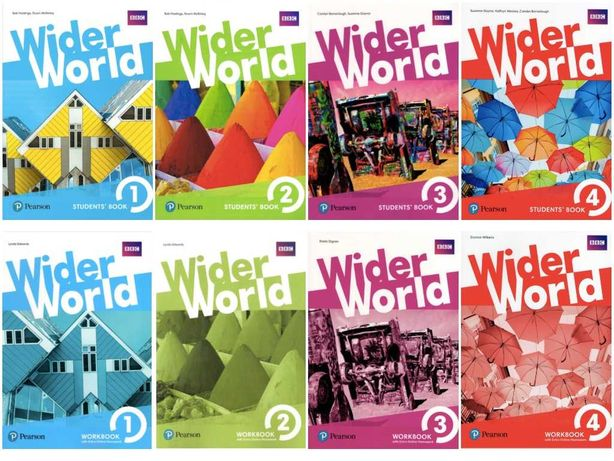 Wider World 1, 2, 3, 4 SB+WB+Аудіо