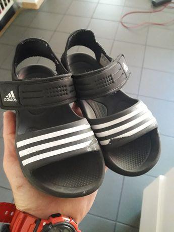 Sandalki czarne adidas 27 ,16cm wkładka
