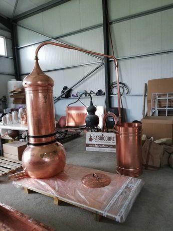 Alambique coluna rotativa novo 100 litros fabrico artesanal  em cobre