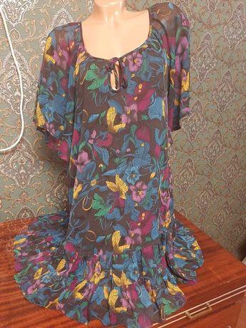 Яркое летнее платье-туника.размер 50-52.