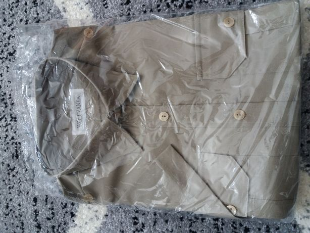 Koszulo-bluza Oficerska kolor Khaki krótki rękaw nowa,metka Wólczanka