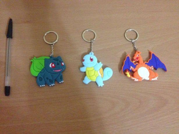 3 Porta-chaves pokémons