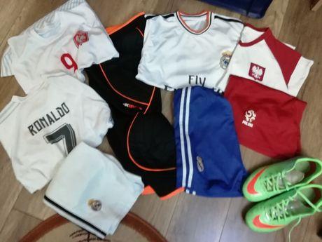 Zestaw piłkarski 152 158 ochraniacze Puma ,korki Nike,rękawice