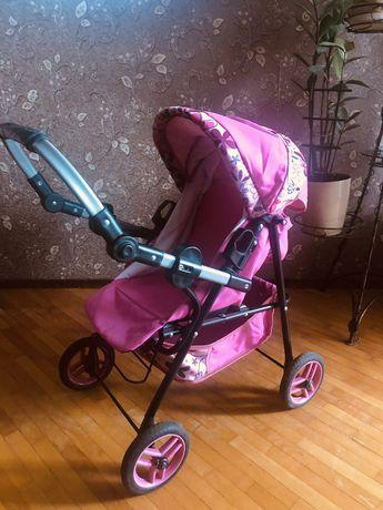 б/у игрушечная коляска в отличном состоянии,для девочек с 3 лет