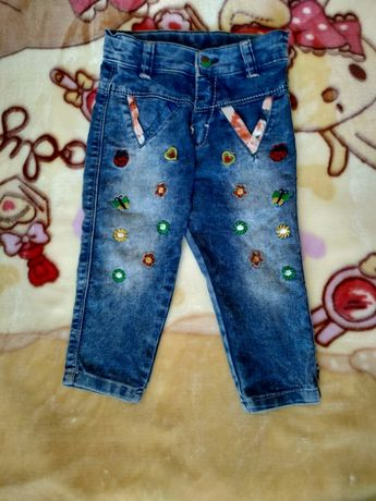 Красивые джинсы на девочку, штаны, штанишки