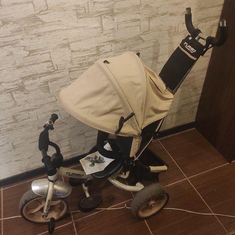 Велосипед детский трёхколёсный с ручкой