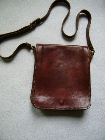 Męska torba listonoszka skóra naturalna.