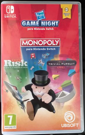 Game Night: Monopoly + Risk + Trivial Pursuit Nintendo Switch