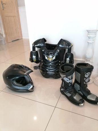 MOTOCROSS Junior Kask Buzer Buty