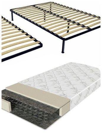 Каркас-Кровать 120/140*200 с ламелями на ножках + Матрас в Комплекте