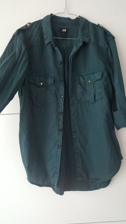 koszula H&M butelkowa zieleń dżety 36