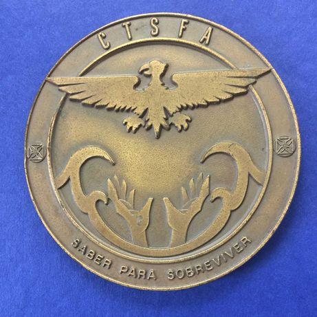 medalha bronze-Força Aérea Portuguesa-CTSFA-Saber para sobreviver-85mm