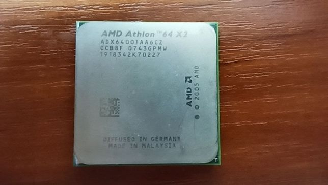 Процессор AMD Athlon 64 X2 6400 125W 2 Ядра, 3.2GHz, AM2