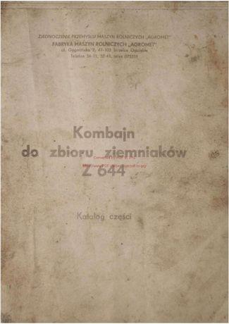 Katalog części Kombajn ziemniaczany Anna Z644