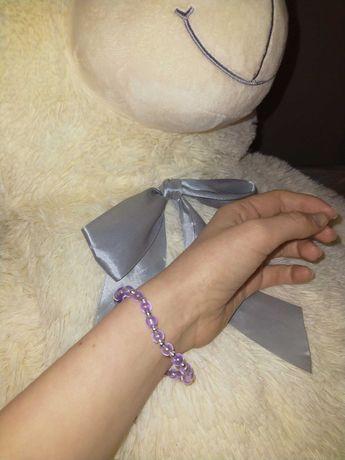 Liliowa bransoletka handmade