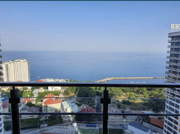 1-к квартира с панорамой моря и террасой в 32 Жемчужине 5F-29190-220