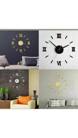 Relógio de parede 3D ( várias cores ) autocolante