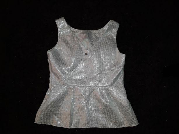 Savida srebrna bluzka baskinka Rozm 42