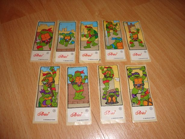 Naklejki Turtles z gum do żucia