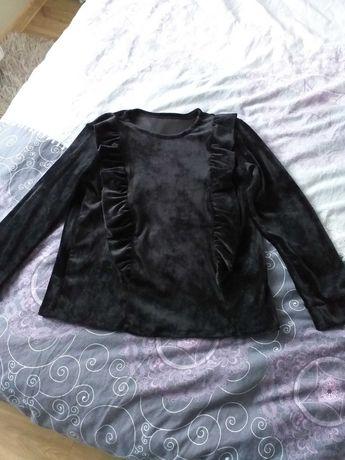 Bluzka welurowa xl czarna