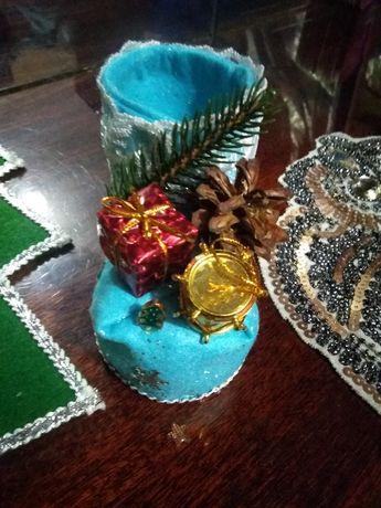 Рождественский башмачек для подарков.Декор