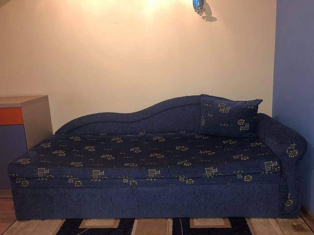 Łóżko rozkładane niebieskie