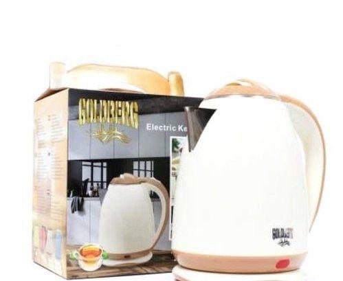 Электрический чайник с металлической колбой Goldberg GB8689 Белый цена