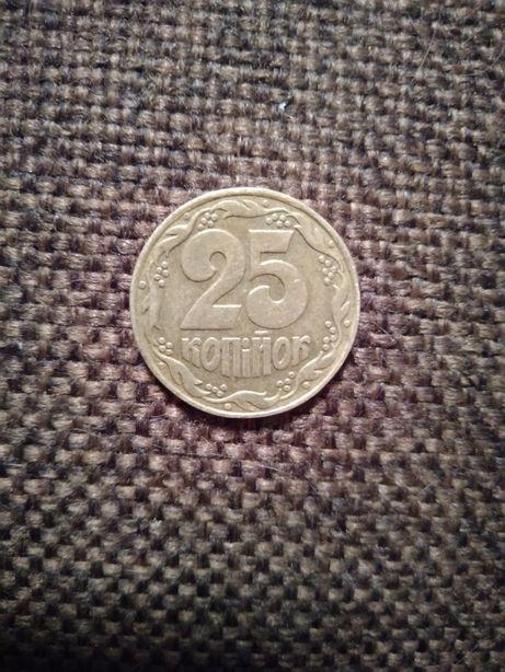 Монета 25 копеек 1992г