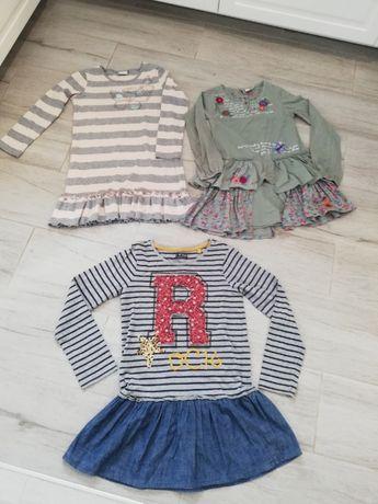 zestaw sukienek dla dziewczynki 8 - 10 lat