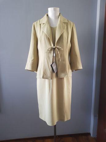 Komplet sukienka garsonka żakiet 40 L