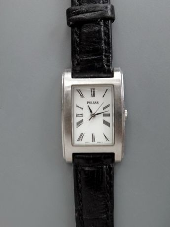 Женские кварцевые часы Pulsar SEIKO V701-5D90 (Japan) кожаный ремешок