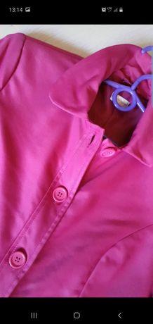 Wisenny trencz płaszczyk w kolorze fuksji 38, stan bdb